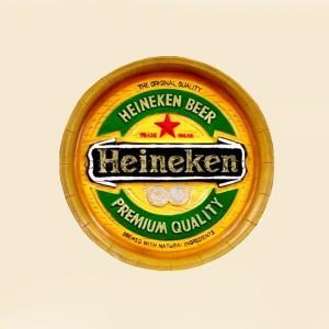 Rond Heineken beer