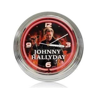 Horloge néon Johnny Haliday